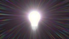 Regnbåge för kula för Glitched lampligh som skiner färgrikt för tändande effekt för signalljusanimeringbakgrund nytt kvali arkivfilmer