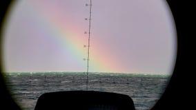 Regnbåge halvöliknande Cherbourg, Frankrike Arkivfoton