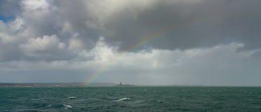 Regnbåge halvöliknande Cherbourg, Frankrike Royaltyfri Fotografi