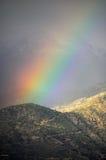Regnbåge i bergen Royaltyfria Foton