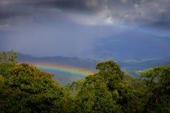 Regnbåge i nationalparken Huai Nam Dang Royaltyfri Fotografi