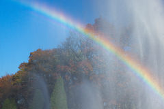 Regnbåge i parkera Fotografering för Bildbyråer
