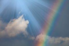 Regnbåge i skyen royaltyfria foton