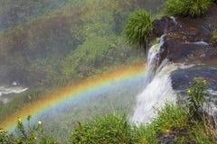 Regnbåge Iguazu Falls, Argentina, Sydamerika Fotografering för Bildbyråer