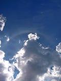 Regnbåge med mörka moln Royaltyfria Foton