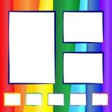 Regnbåge- och fotoram Arkivbild