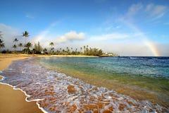 Regnbåge ovanför Kauai Arkivfoton