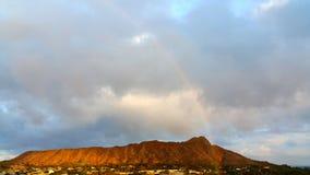 Regnbåge på Diamond Head Royaltyfri Fotografi