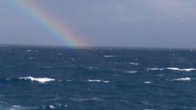 Regnbåge på havet 2 royaltyfria bilder
