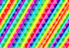 Regnbåge Ray Lines i en triangelmodell Royaltyfri Foto