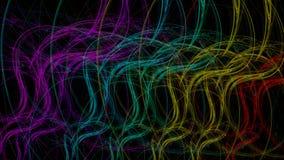 Regnbågebakgrund buktade ljus vektor illustrationer