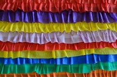 Regnbågebanderollgarnering för Sts Patrick dag Arkivbild