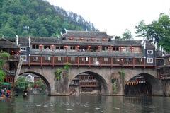 Regnbågebro, Fenghuang, Kina Royaltyfri Bild