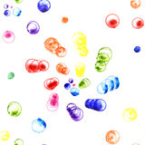 Regnbågefärgdans Arkivfoto