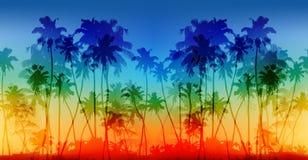 Regnbågefärger gömma i handflatan sömlös bakgrund för konturvektortappning stock illustrationer