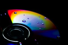 Regnbågefärger på CD-SKIVAN fotografering för bildbyråer