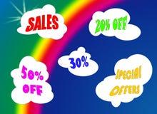 regnbågeförsäljning Arkivbild