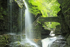RegnbågeFallsRainbow Falls Royaltyfria Foton