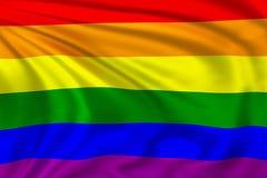Regnbågeflagga Royaltyfri Fotografi