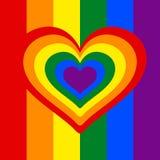 Regnbågehjärta, hjärta, lgbtfärg Royaltyfri Fotografi