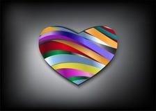 Regnbågehjärta och mörkerbakgrund Royaltyfri Bild