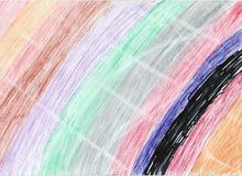 Regnbågekonstverk på pappers- bakgrund Royaltyfri Bild