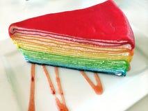 Bageri för regnbågekräppkaka Arkivbilder