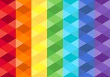 Regnbågekubikbakgrund Royaltyfria Bilder