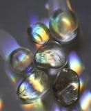 Regnbågekvartskristaller royaltyfria bilder