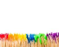 Regnbågemålarfärgbakgrund Arkivfoton