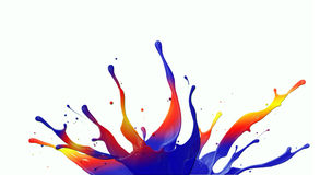 Regnbågemålarfärgfärgstänk Royaltyfri Bild