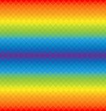 Regnbågemodell av geometriska former Royaltyfri Foto