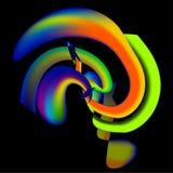 Regnbågemodell på svart vektor illustrationer