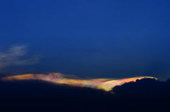 Regnbågemoln, Irisation Royaltyfri Bild