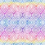 Regnbågen färgar den stam- prydnaden på sömlös modell för vit vektor stock illustrationer