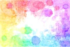 Regnbågen texturerade akvarellen bläckar ner bakgrund arkivfoto