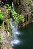 Regnbågenedgångar är en vattenfall som lokaliseras i Hilo, Hawaii Royaltyfria Bilder