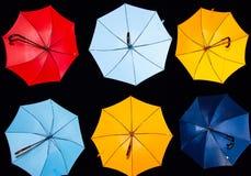 regnbågeparaply arkivfoton