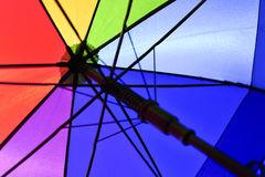 regnbågeparaply Arkivfoto