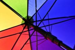 regnbågeparaply Arkivbild