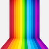 Regnbågeperspektivbakgrund stock illustrationer