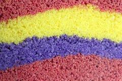 Regnbågeremsor av kulör sand royaltyfri fotografi