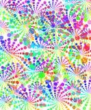 Regnbågerunda stock illustrationer