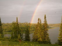 regnbågesida arkivfoton