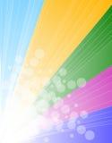 Regnbågespektrumbakgrund för broschyr eller reklamblad Vektor Illustrationer