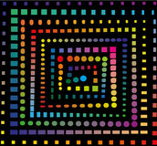 Regnbågespiralmodell Arkivbild