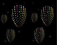Regnbågespiralmodell Arkivfoto