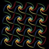 Regnbågespiralmodell Arkivfoton
