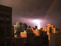 regnbågestorm Arkivbilder