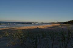 Regnbågestrand från sanddyn i vinter royaltyfri foto